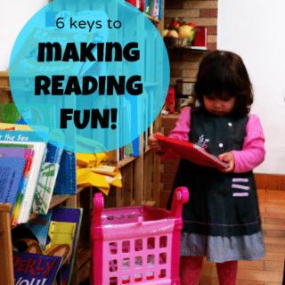 Keys to Make Reading Fun From Little Artists Blog on B-InspiredMama.com
