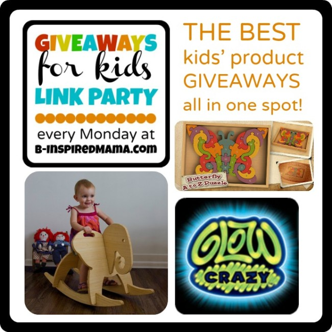 2-4 Giveaways for Kids Link Party Mondays at B-InspiredMama.com