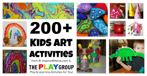200 Art Activities For Kids From The Play Group