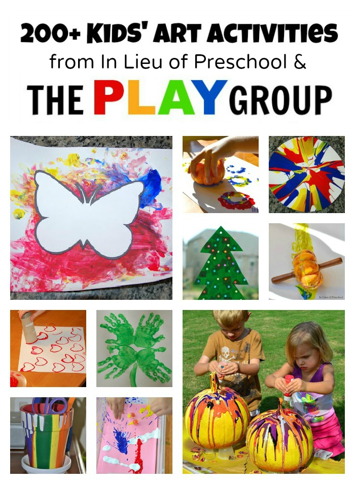 Art Activities from In Lieu of Preschool and The PLAY Group