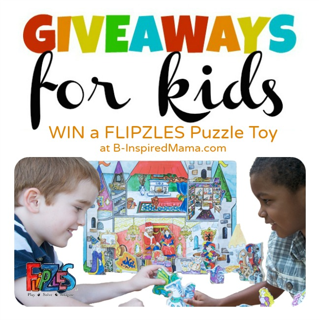 Flipzles Puzzle Giveaway for Kids at B-InspiredMama.com