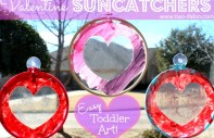 Toddler Heart Suncatcher Valentine Craft from Twodaloo on B-InspiredMama.com