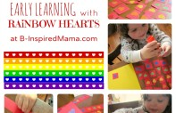 Rainbow Heart Early Learning Fun at B-InspiredMama.com
