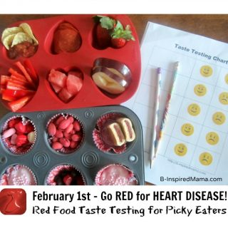 Red Food Taste Test for Heart Disease at B-InspiredMama.com