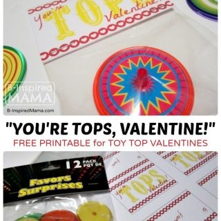 "A Free Valentine Printable for a Cute ""You're Tops!"" Kids Valentine!"