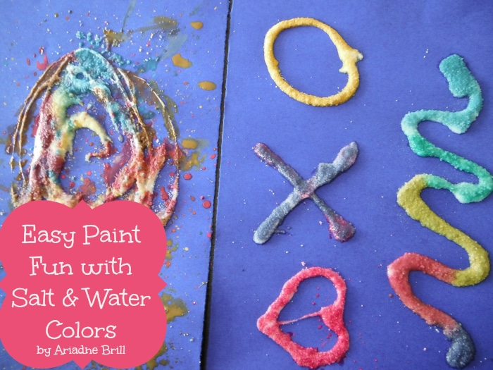 Salt Painting with Watercolors from Positive Parenting Connection and B-InspiredMama.com