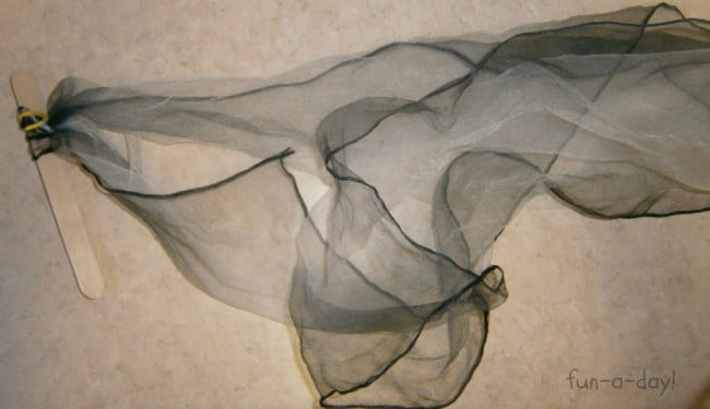 A Scarf Wand for a Windy Day Science Activity from Fun-A-Day! and B-InspiredMama.com