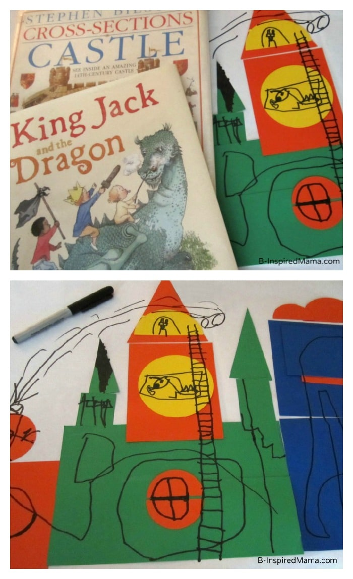 Book Based Kids Castle Craft for Poppins Book Nook at B-InspiredMama.com