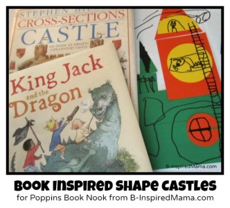 Book Inspired Shape Castle Craft for The Poppins Book Nook at B-InspiredMama.com