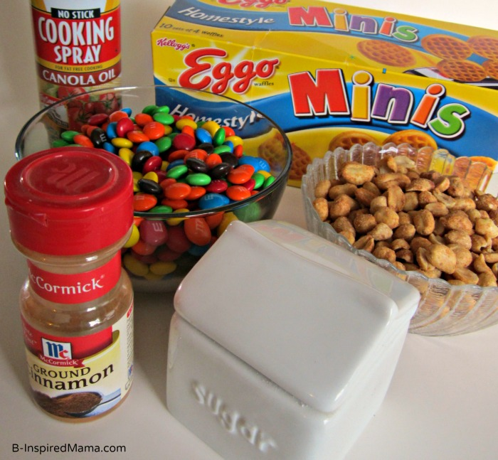 Cinnamon Waffle Snack Mix Ingredients with Eggo from B-InspiredMama.com