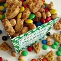 Cinnamon Waffle Snack Mix for Eggo's Great Waffle Off at B-InspiredMama.com