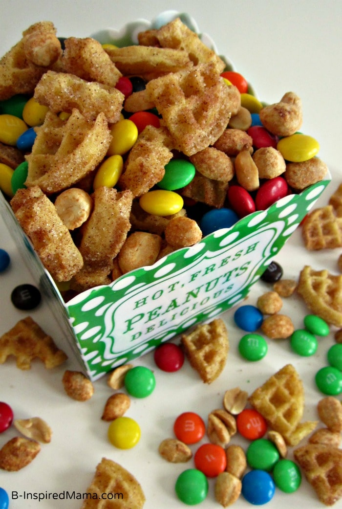 Cinnamon Waffle Snack Mix for Eggo's Great Waffle Off at B-InspiredMama.com