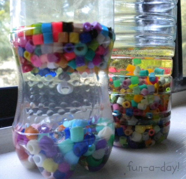 Early Learning with Beads in Discovery Bottles from Fun-A-Day! and B-InspiredMama.com