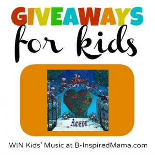 Kids' Music Giveaway for Kids at B-InspiredMama.com