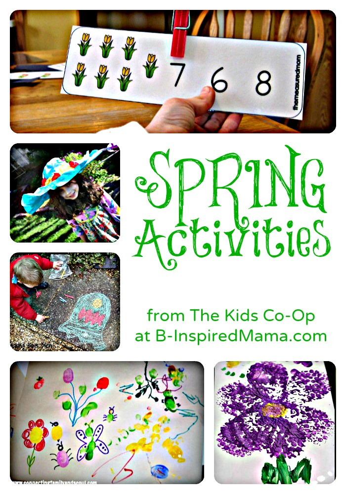 Kids Spring Activities from The Kids Co-Op at B-InspiredMama.com