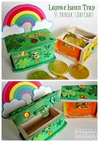 Leprechaun Trap Box St. Patrick's Day Craft at B-Inspired Mama