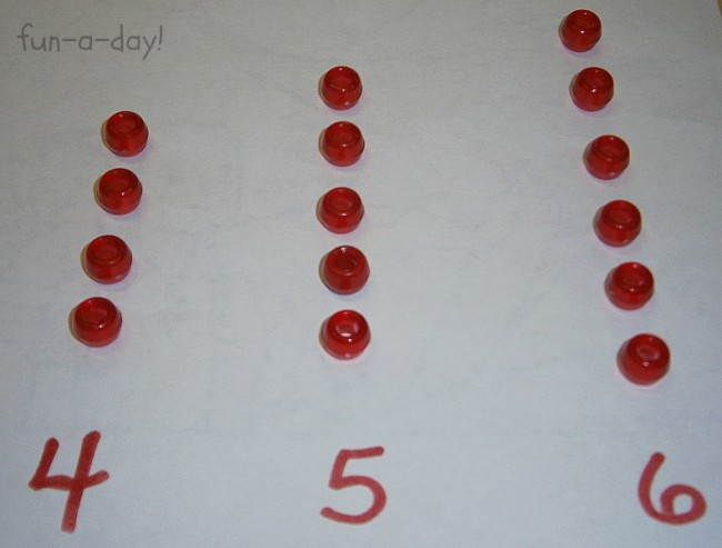 Math Early Learning with Beads from Fun-A-Day! and B-InspiredMama.com