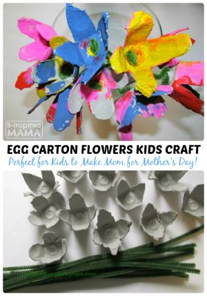 Spring Flowers Egg Carton Craft for Kids at B-Inspired Mama