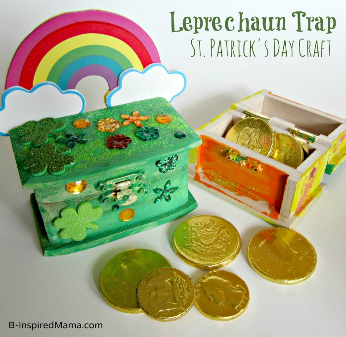 St. Patrick Craft Leprechaun Trap at B-InspiredMama.com
