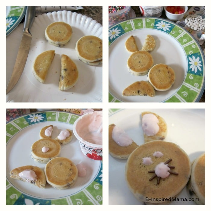 Steps for making this easy 5-Minute Easter Bunny Pancakes Recipe
