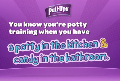 You Know You're Potty Training Quote from Pull-Ups at B-InspiredMama.com