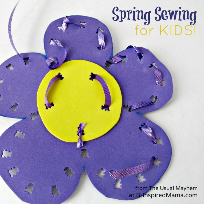A Flower Kids Sewing Project for Spring at B-InspiredMama.com