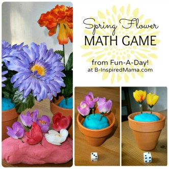 A Fun Spring Flower Math Game from Fun-A-Day! at B-InspiredMama.com