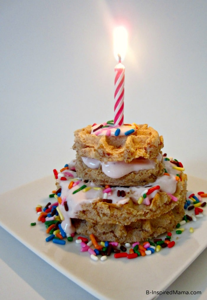 A Kids Birthday Breakfast Cake from Eggo and B-InspiredMama.com