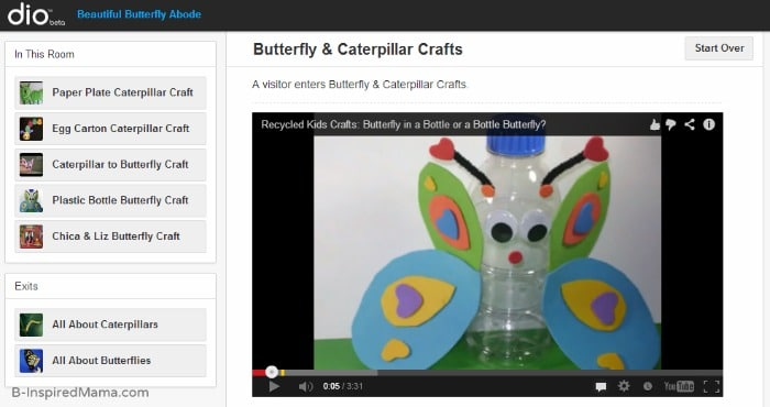 Butterfly Life Cycle Crafts with dio and B-InspiredMama.com