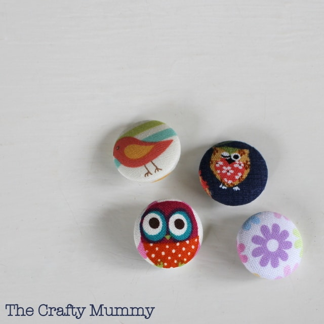 Covered Buttons for Hair Tie Mama Craft from The Crafty Mummy at B-InspiredMama.com