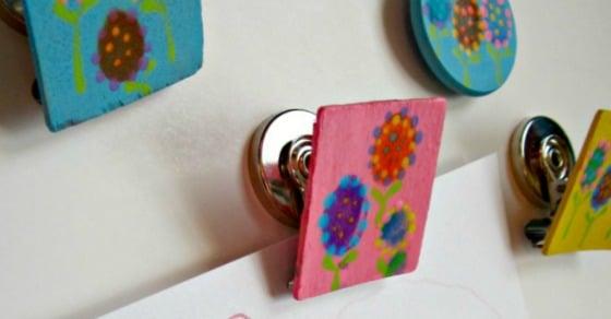 Sweet Kids Fingerprint Flower Magnets