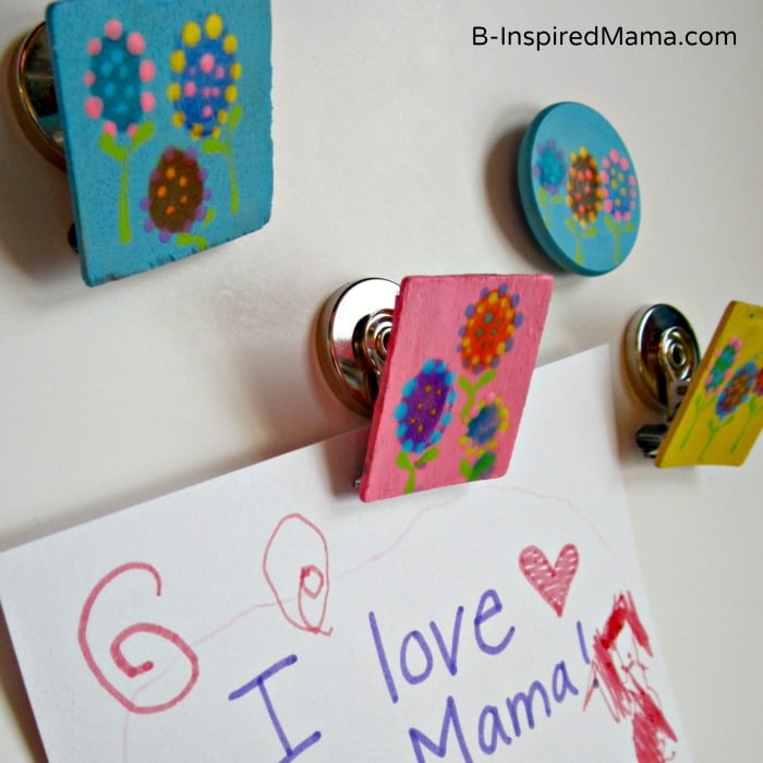 Cute Kids Fingerprint Magnets from B-InspiredMama.com