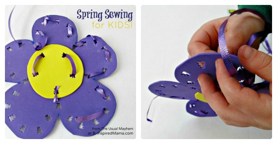 DIY Kids Sewing Flower for Spring