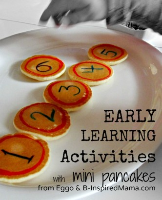 Early Learning Activities with Mini Pancakes from Eggo at B-InspiredMama.com