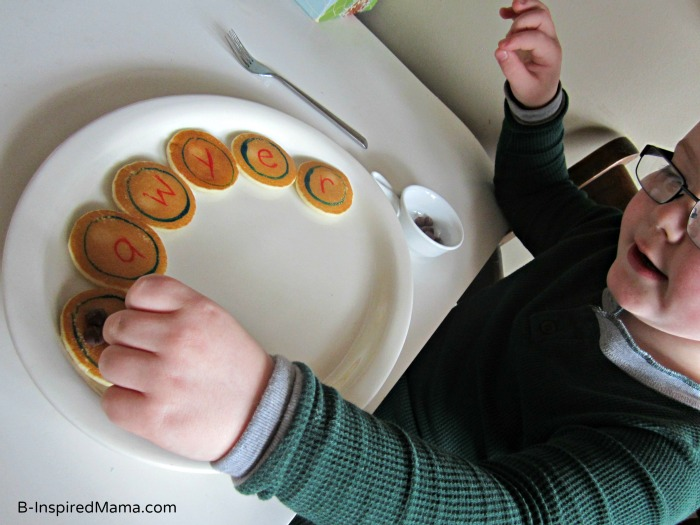 Early Learning Name Practice with Mini Pancakes from Eggo at B-InspiredMama.com