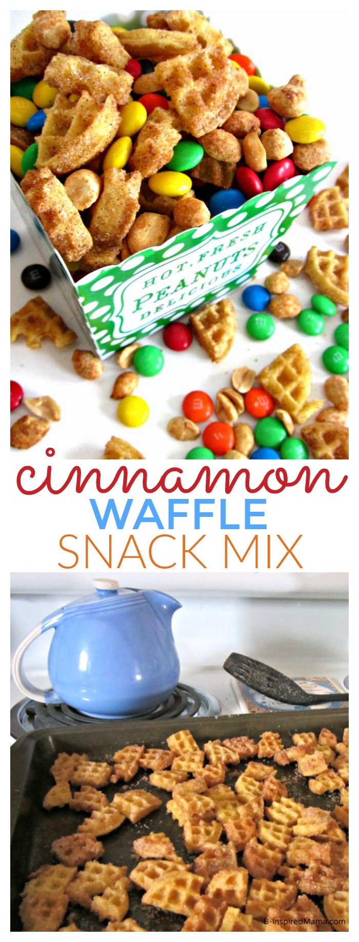 Easy and Yummy Cinnamon Waffle Snack Mix Recipe the Kids will LOVE