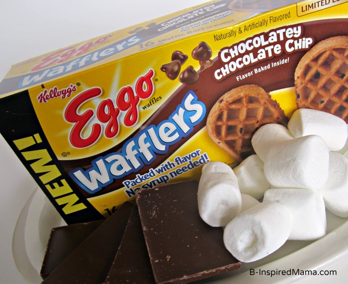 Ingredients for Double Chocolate Waffle S'Mores with Eggo at B-InspiredMama.com