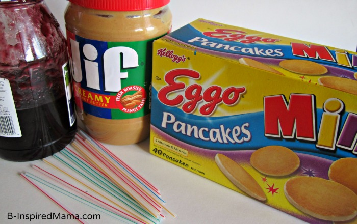 Ingredients for Peanut Butter Jelly Pancake Bites with Eggo at B-InspiredMama.com