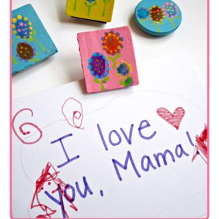 Kids Fingerprint Flower Magnet Craft