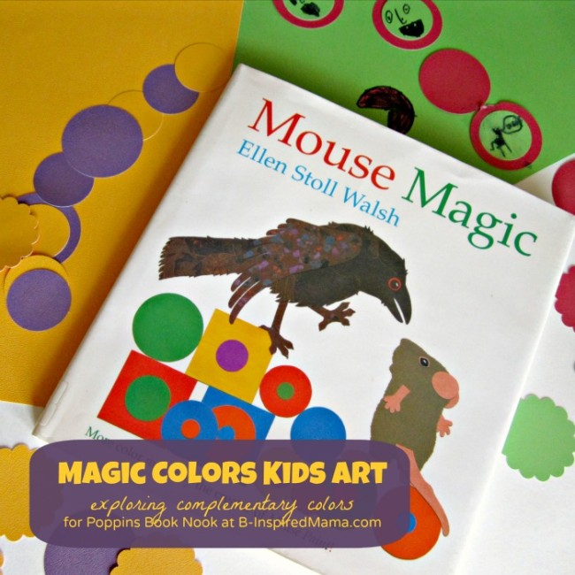 Magic Colors Kids Art Project for the Poppins Book Nook at B-InspiredMama.com