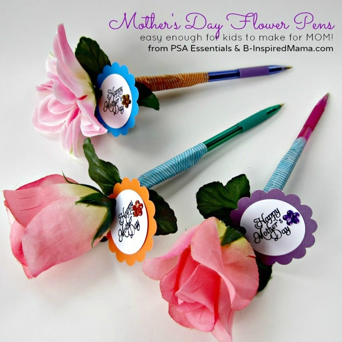 Make a flower pen for mom b inspired mama for Crafts to make for mom