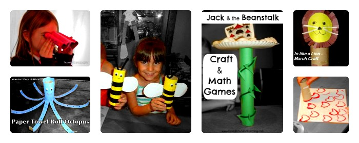 Recycled Paper Roll Crafts from The PLAY Group at B-InspiredMama.com