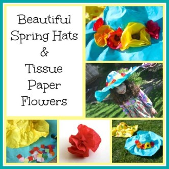 Colorful Spring Hat Craft from Buggy and Buddy at B-InspiredMama.com