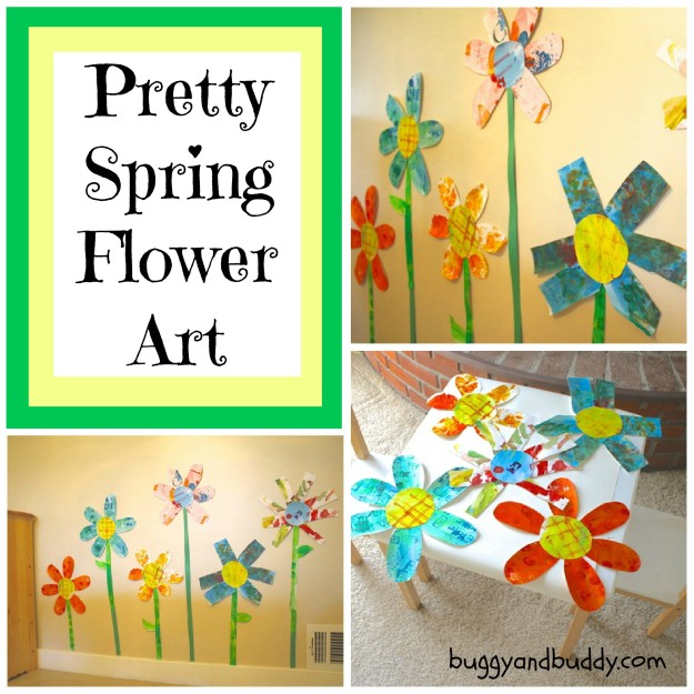 Pretty Preschool Flower Craft from Buggy and Buddy at B-InspiredMama.com