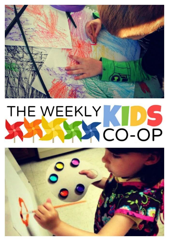 18+ Preschool Art Activities at the NEW Weekly Kids Co-Op Blog