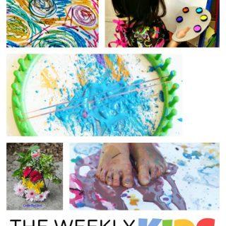 18+ Preschool Art Activities at WeeklyKidsCoOp.com