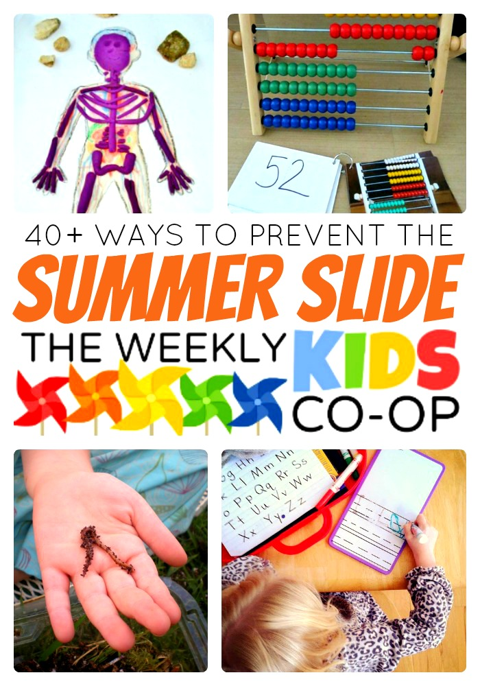 40+ Activities to Prevent the Summer Slide from The Weekly Kids Co-Op