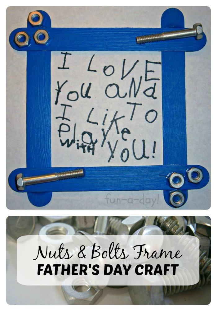 Nuts Bolts Fathers Day Craft For Kids