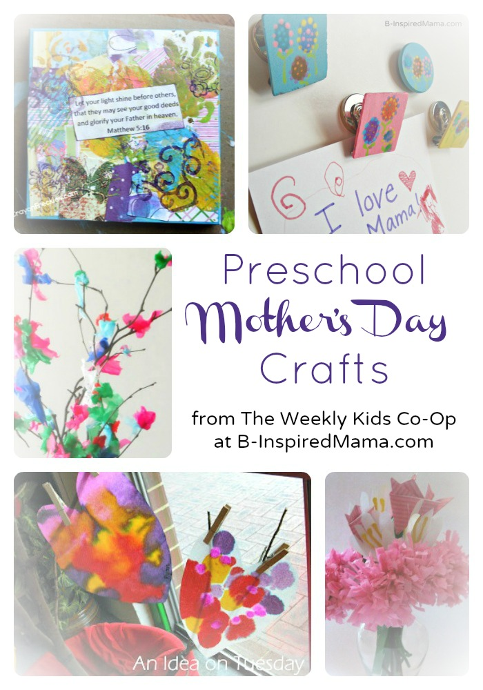 Cute Preschool Mother S Day Crafts