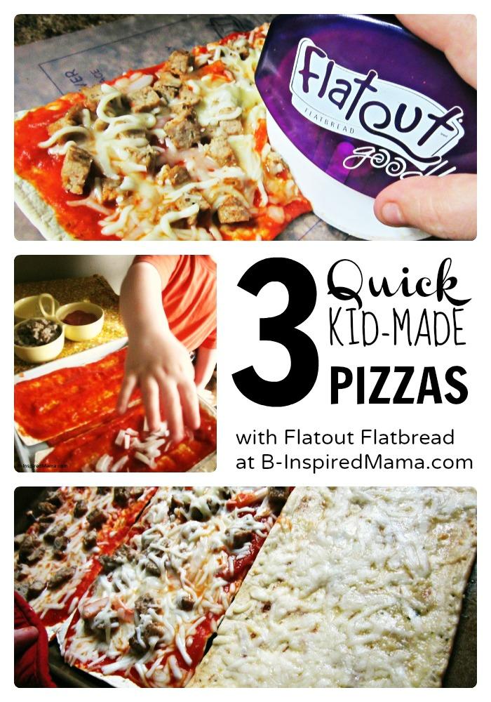 Quick Kids Pizza Making with Flatout Flatbread at B-InspiredMama.com